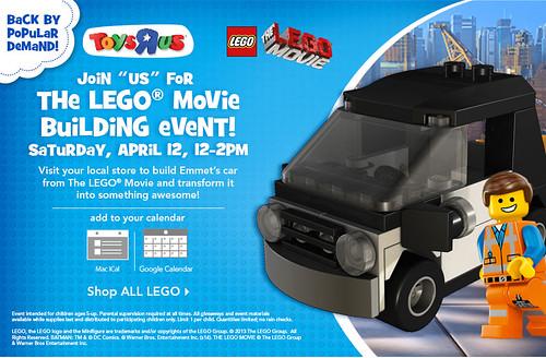 The LEGO Movie Emmet's Car Build Event