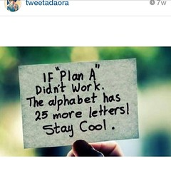 #RP  from @tweetadaora.  I was raised by someone who never had just plan A. She does always have plan B C and D tucked somewhere away under her sleeves. #shestheboss #myveryfirstManager #ladyboss