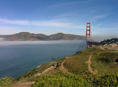Golden Gate & Bridge with morning fog