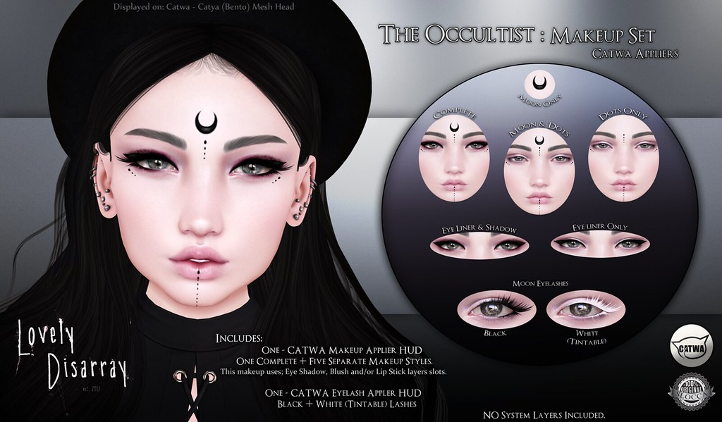 Lovely Disarray - The Occultist Makeup Set @ Skin Fair 2017 - SecondLifeHub.com