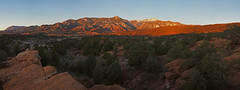 25 March 17 Sunrise Pano with Pike Peak