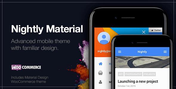 Nightly Material WordPress Theme free download