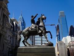 Statues outside City Hall