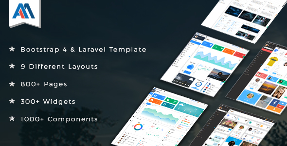 Admire v2.1 – Bootstrap 4 Admin + Laravel Template