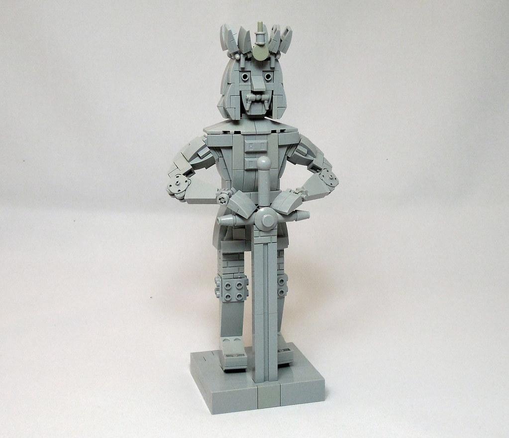 Stephen III of Moldavia Statue (custom built Lego model)