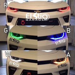 RGBWA DRL BOARDS.   Red, Green, Blue, White DRL System, & Amber Switchback Turn signal.   #RetrofitYourLife with #ElStigGarage 🚫We don't reply do DM's🚫 📢For Pricing & Appointments ___________________________________
