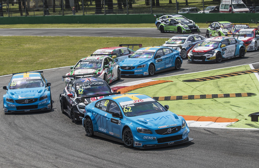 62 BJORK Thed (swe) Volvo S60 Polestar team Polestar Cyan Racing action during the 2017 FIA WTCC World Touring Car Race of Italy at Monza, from April 28 to 30  - Photo Gregory Lenormand / DPPI