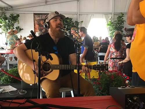 Marc Broussard performing in the 'OZ Hospitality Tent - Day 2 Jazz Fest April 29 2017
