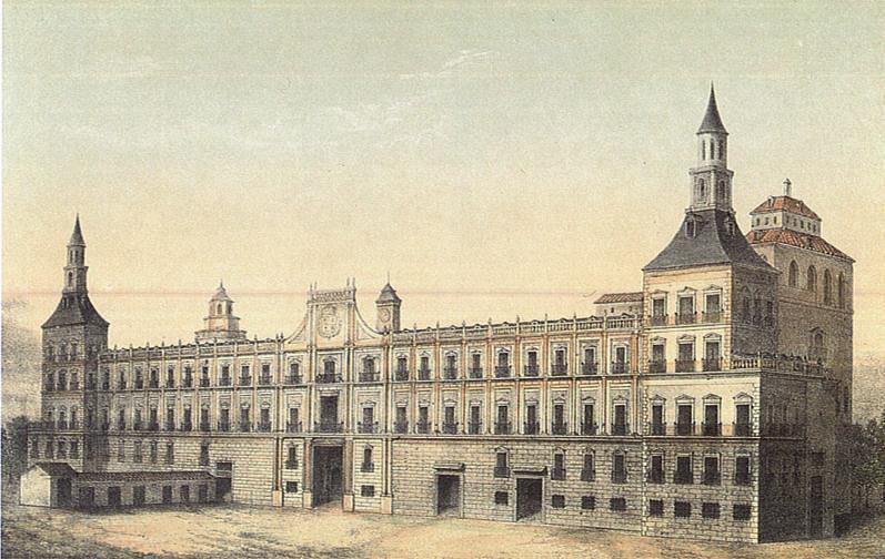 Otra vista del Real Alcázar de Madrid. Autor desconocido