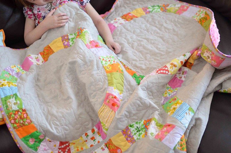 single girl baby quilt