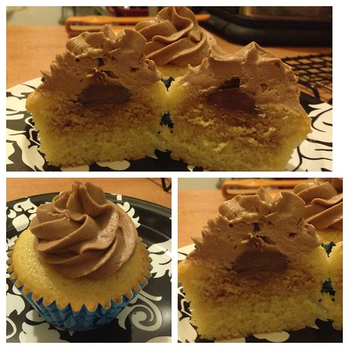 Peanut Butter Blossom Cupcake