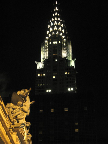 Chrysler Building And Grand Central Terminal At Night