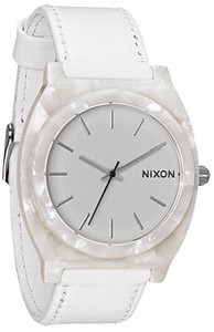 Nixon Time Teller Acetate Leather Ladies Watch A3281029
