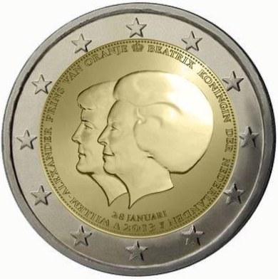 2 Euro Holandsko 2013, Dvojitý portrét