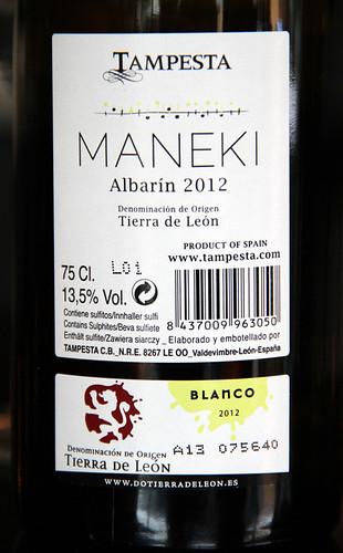 MANEKI - ALBARÍN 2012 DE BODEGAS TAMPESTA - VINO DEL MES