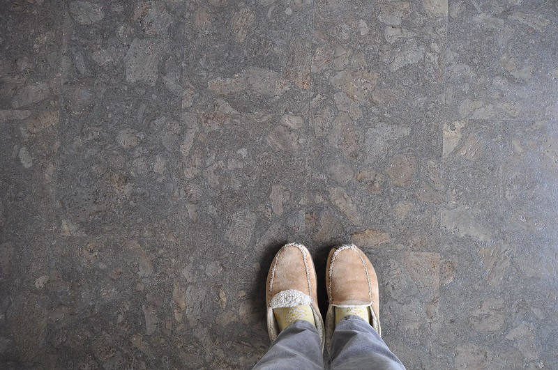 Cork floor and old slippers