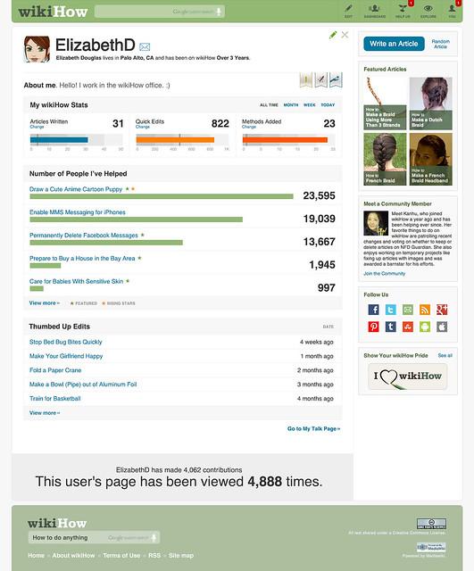 User Page Mock Ups