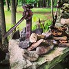 Things you find in the woods... Old tools, rocks with fossils, etc. #rust #rocks #old #fossils