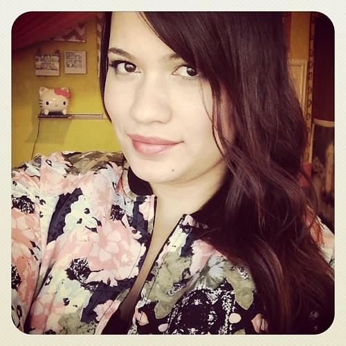 Loving my cute crop jacket from @mrprice #mrprice #lightpink #peach #black #floral #fashion #style