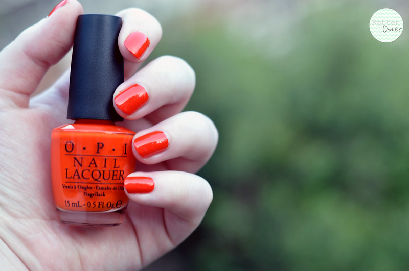 NOTD OPI A Roll In The Hague nail polish bright orange neon creme rottenotter rotten otter blog 3
