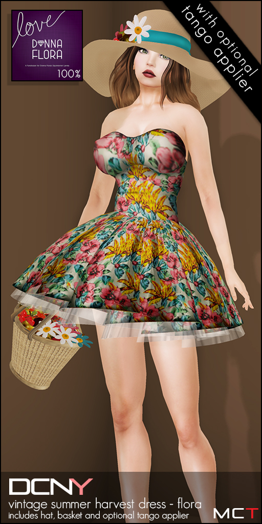 DCNY Vintage Summer Harvest Dress (Flora)