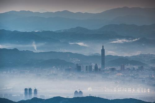 fog sunrise day taiwan taipei taipei101 台灣 台北 台北101 explored
