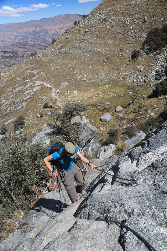 The steep bit on the way to Laguna Churup