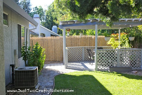 Bamboo Privacy Fencing- a low cost way to dress up an old fence