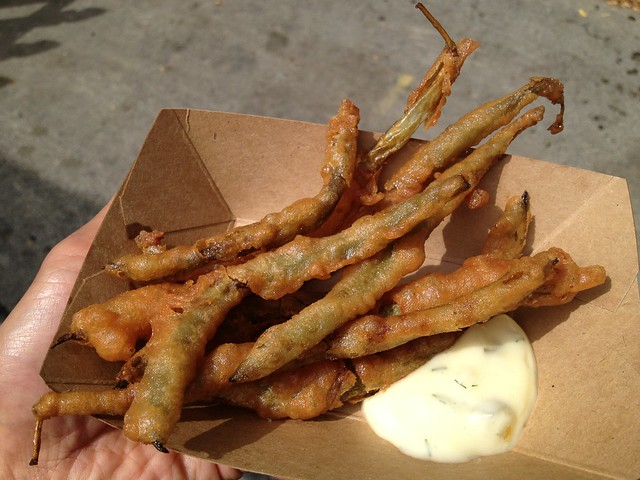Fried pickled green beans - Jarred SF Brine