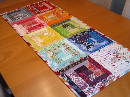 Rainbow Log Cabin Table Runner