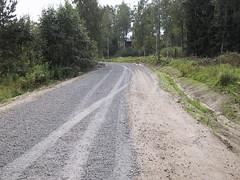 Finland Kuorevesi gravel road maintenance.JPG