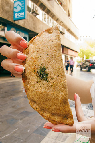 Vegan Empanadillas at Herbolario Navarro - Valencia, Spain