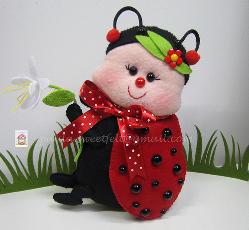 ♥♥♥ A Joaninha... by sweetfelt \ ideias em feltro