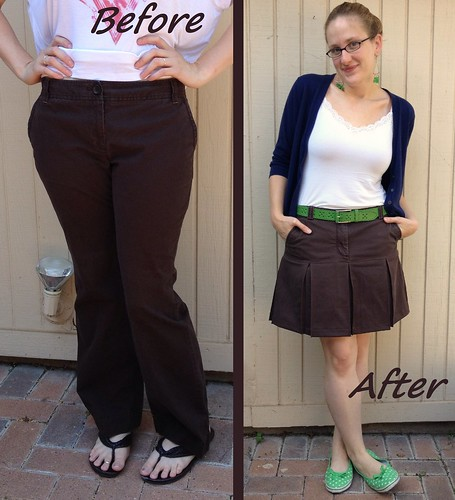 Scouts Honor Skirt Before & After