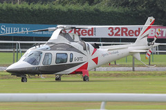 G-OFTC - 1999 build Agusta A109E Power, visiting Haydock Park on race-day