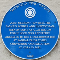 Photo of John Nevison blue plaque