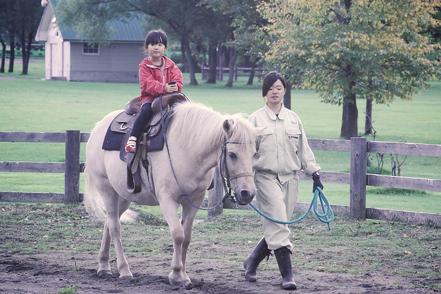 Photo:SAKURAKO tries horse riding. By MIKI Yoshihito. (#mikiyoshihito)