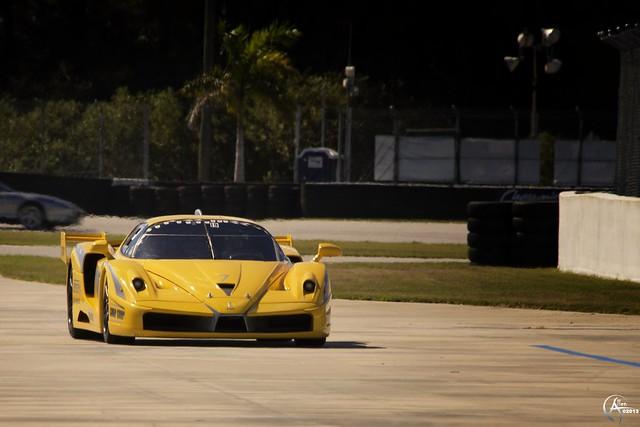 Ferrari FXX into the pits