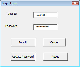 How to write Macro for Login Form with VLookup in Excel? (VBA ...