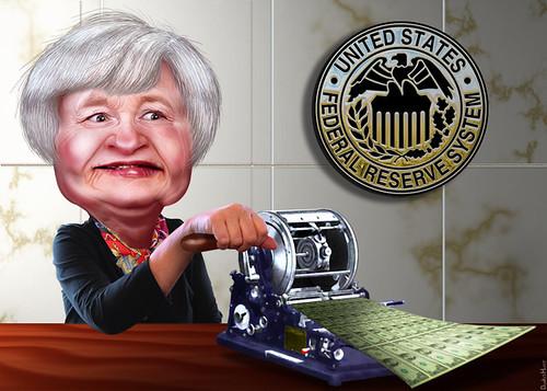 Janet Yellen - Caricature