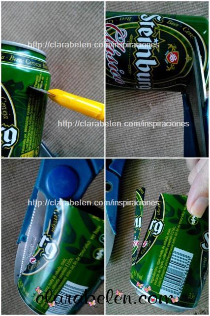 Cómo cortar una lata para hacer un portavelas con reciclaje en Navidad