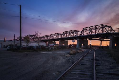 bridge canada building architecture sunrise industrial winnipeg railway manitoba