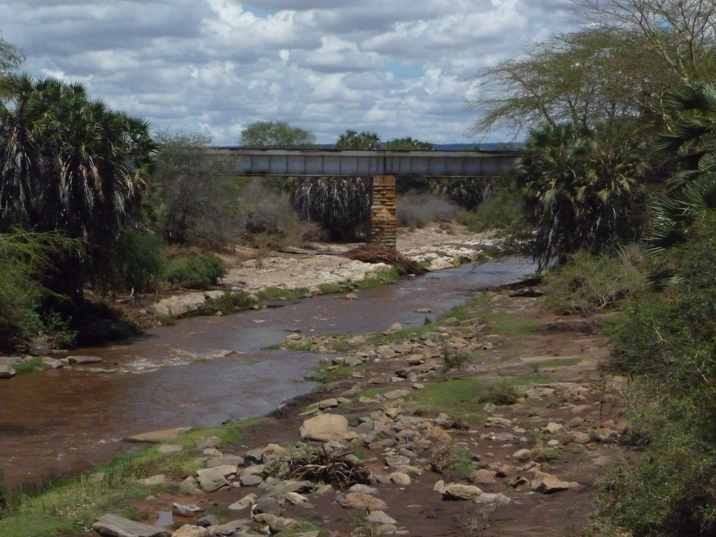 Railway bridge where the Maneaters of Tsavo terrorised workers during the building of the railroad