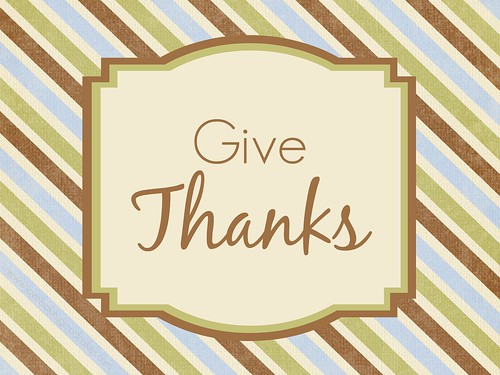 Give Thanks printable (8x10)