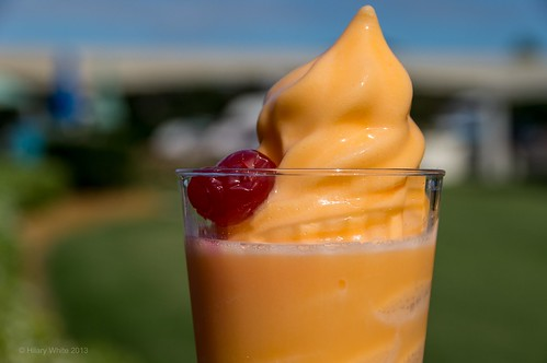 Orange Dole Whip with Creme de Cacao White