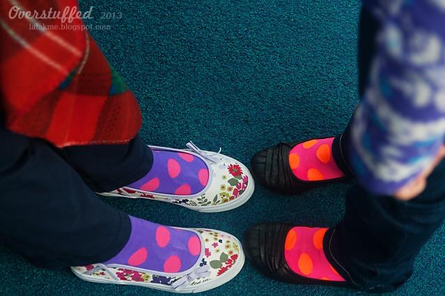 Chloe and Sophia and their socks
