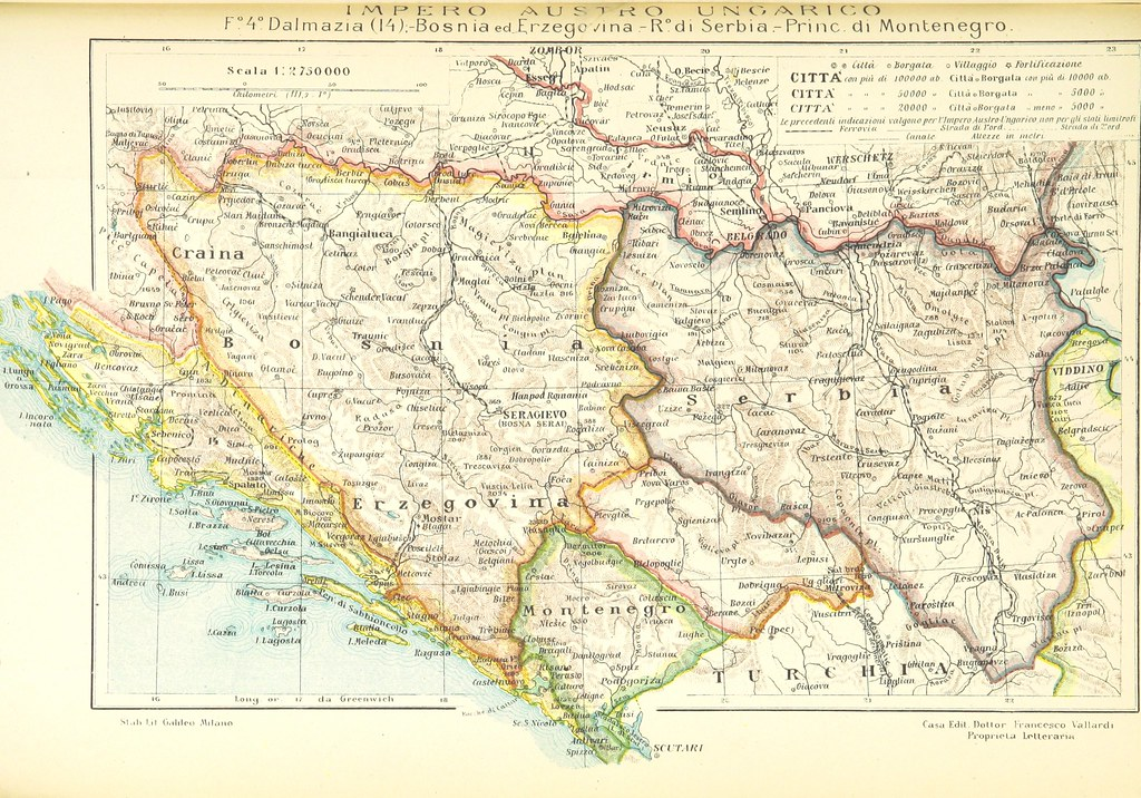 Balkan map photo