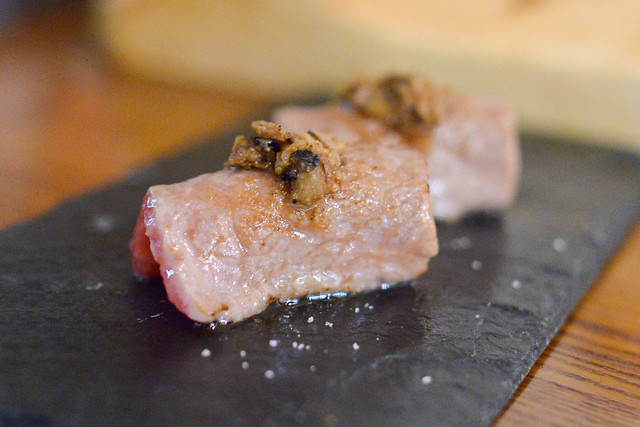 A-5 Wagyu marinated black truffle