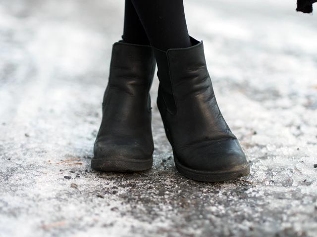 bianco leather wedge heels