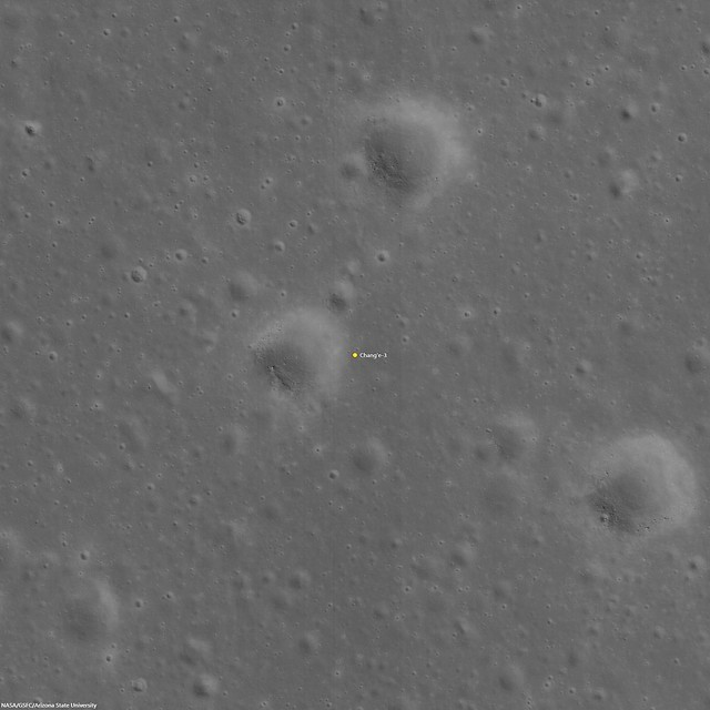 Chang'e-3 Landing Site matched with LROC NAC imagery